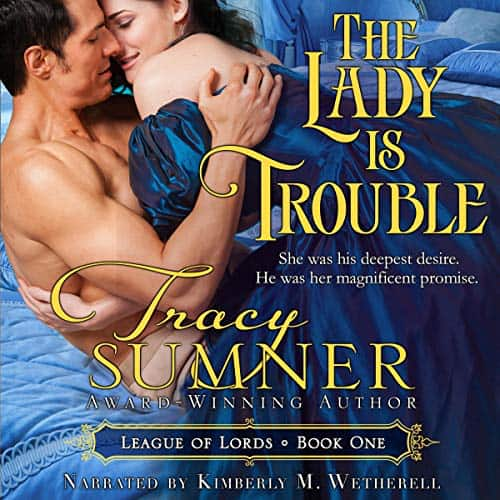 Audiobook cover for The Lady is Trouble (audiobook) by Tracy Sumner