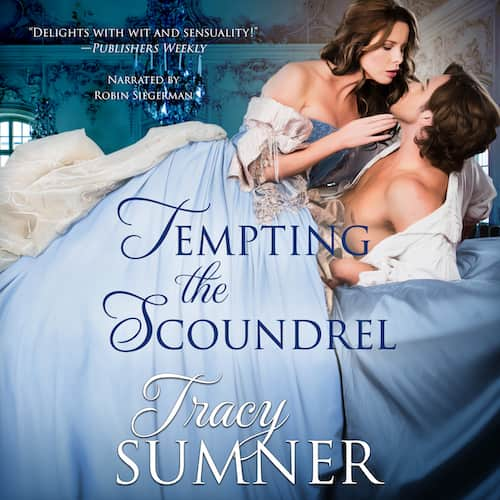 Audiobook cover for Tempting the Scoundrel audiobook by Tracy Sumner